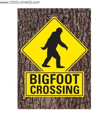Bigfoot Crossing Bigfoot Magnet
