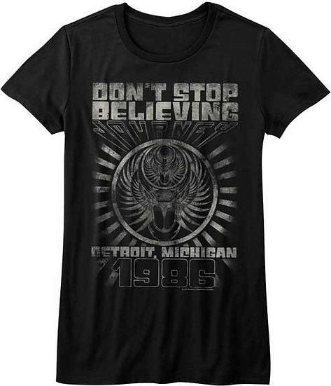 Journey T-Shirt / 1980 JOURNEY Don't Stop Believin Ladies Tee