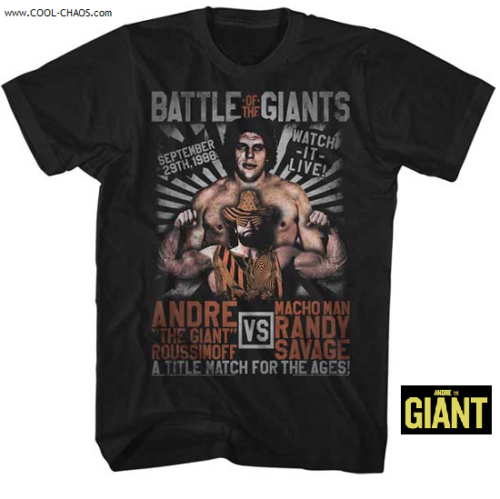 Andre the Giant T-Shirt / Andre the Giant vs. Macho Man Battle of Giants Tee