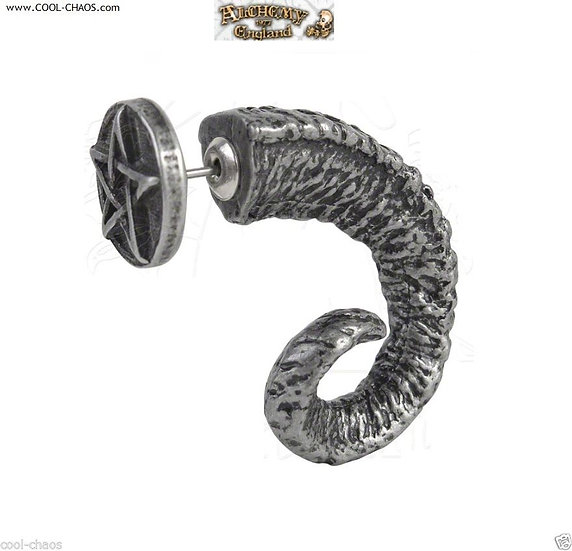 Magic Ram Horn Earring Stud Earring