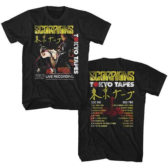 SCORPIONS T-SHIRT / SCORPIONS LIVE JAPAN '84 TOKYO TAPES TOUR THROWBACK ROCK TEE