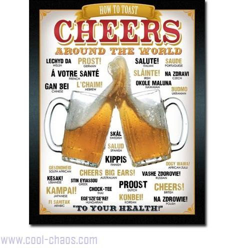 Say Cheers around the world-Beer Sign
