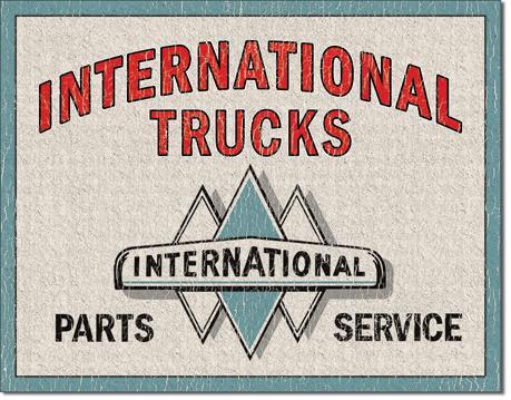 International Parts Service International Parts Tin Sign
