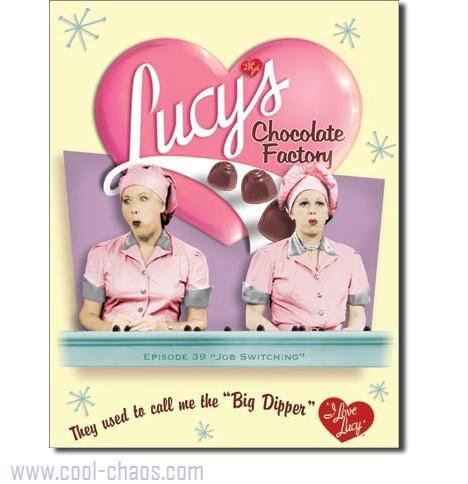 Chocolate Factory Episode I love Lucy Sign