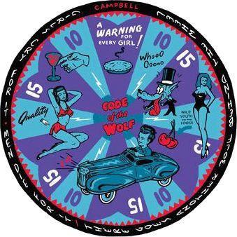 Code of the Wolf Dart Board Sticker