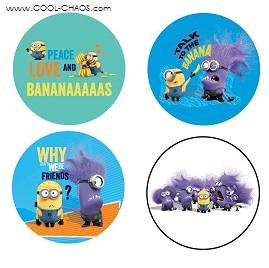 Despicable Me 2 Buttons-set 4 of 4 collectors buttons