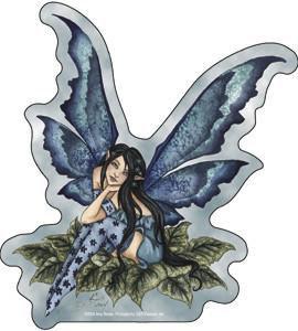 Teal Blue Fairy Sticker