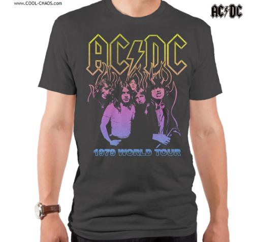 AC/DC Shirt / 1979 World Tour Retro Throwback Tee