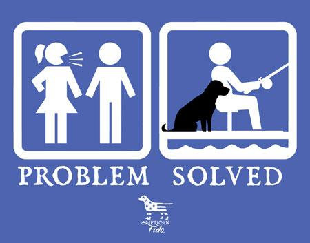 Problem Solved Fishing Man Cave Sign