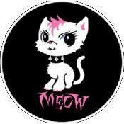 Bad Kitty Button #3 Pink Mohawk Kitten
