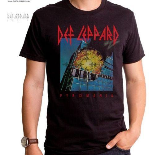 Def Leppard T-Shirt / Men's Rock Tee / Def Leppard Pyromania