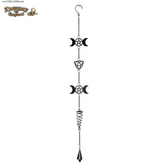 Goddess Moon Wind Chime by Alchemy Gothic 1977 Home Decor