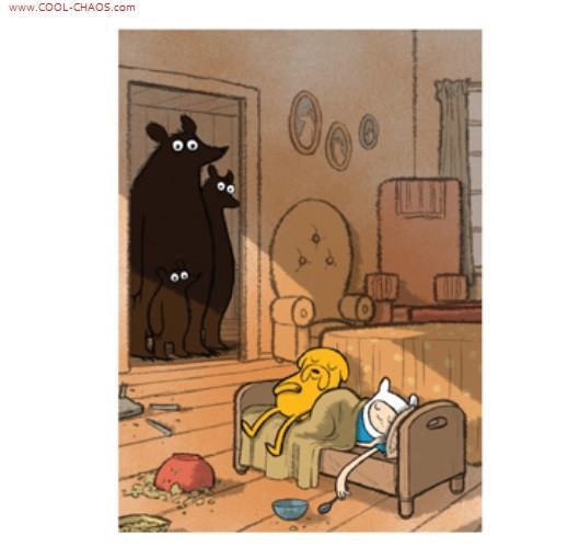 Three Bears Finn & Jake Magnet