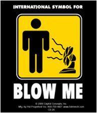 International Signs Blow Me Sticker