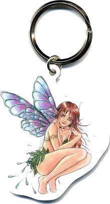 Impish Fantasy Fairy Keychain