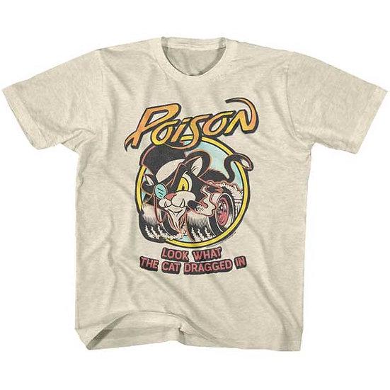 POISON T-Shirt / 80S CAT TATTOO POISON TEE Kids Tee
