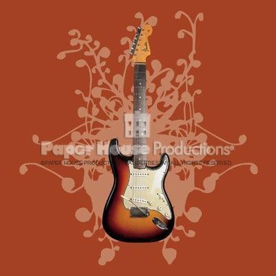 Fender Guitar Blank Greeting Card / Magnet