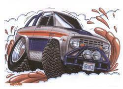 Bronco Sticker