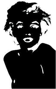 Silhouette Black Marilyn Monroe Sticker