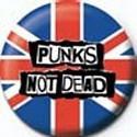 Mini Punks Not Dead Rock Button