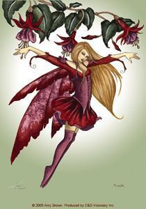 Fuchsia Fairy Sticker by Amy Brown