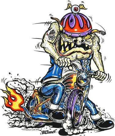 Bobber Ace Biker Sticker