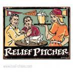 Sexy Relief Pitcher Beer Sign