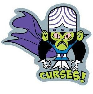 Curses! Monkey Powerpuff Girls Sticker