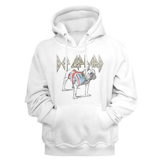 Def Leppard Hoodie / Union Jack Def Leppard Bulldog Hooded Sweatshirt