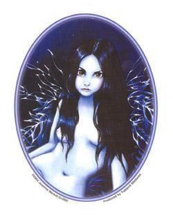 Big Eyed Fairy by Moonlight Sticker