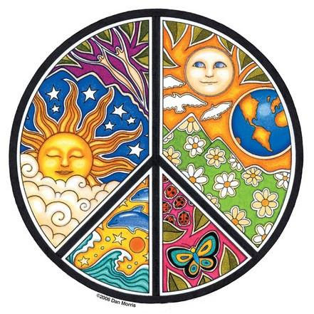 Night / Day Peace Sticker