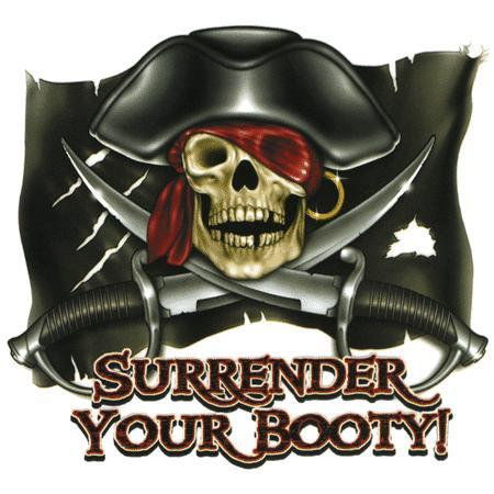 Surrender your Booty Pirate Sticker
