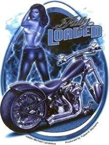 Biker Babe Sexy Blues Pin-up Girl Sticker