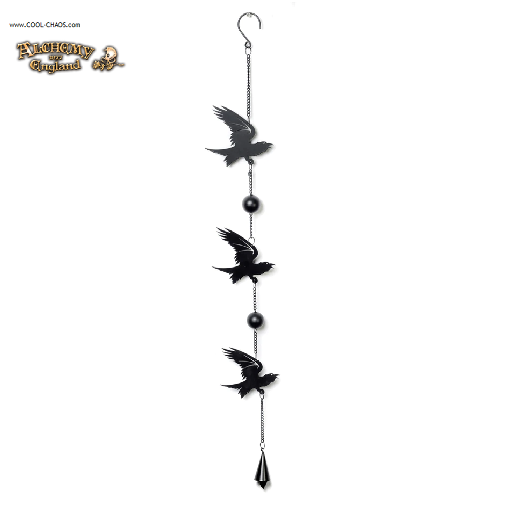 Edgar Allan Poe inspired Raven Wind Chime by Alchemy Gothic 1977, New 2019