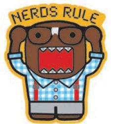 Nerds Rule Domo Sticker