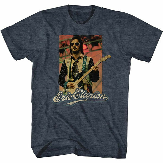 ERIC CLAPTON T-Shirt / 70'S SUNGLASSES GUITAR ERIC CLAPTON TRIBUTE TEE