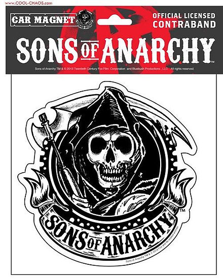 Reaper Sons of Anarchy Car Magnet