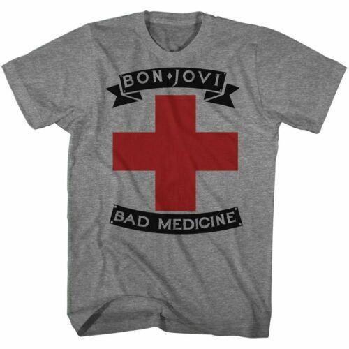 Bon Jovi T-Shirt / BON JOVI BAD MEDICINE 80S ROCK TEE