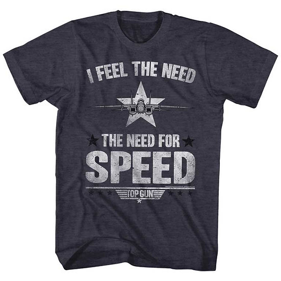 TOP GUN T-Shirt / 80's Throwback 'I feel the need for Speed' Movie Tee