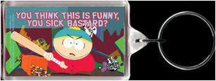 South Park Sick Bastard Cartman Keychain