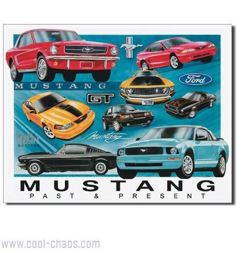 Past to Present Mustang Sign