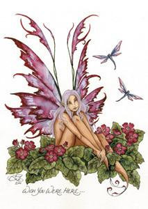 Amy Brown Fairy Art Postcard #4 Wish You were Here