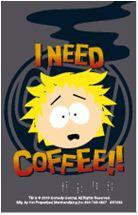 Butters I need Coffee South Park Keychain