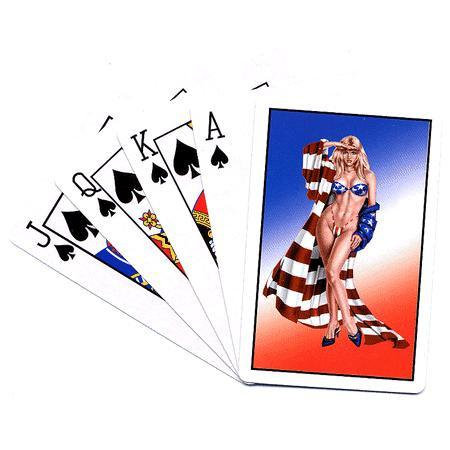 Miss USA Pin-up Girl Playing Cards