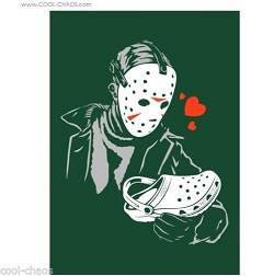 Crocs + Jason Voorhies Friday the 13th Horror Movie Magnet