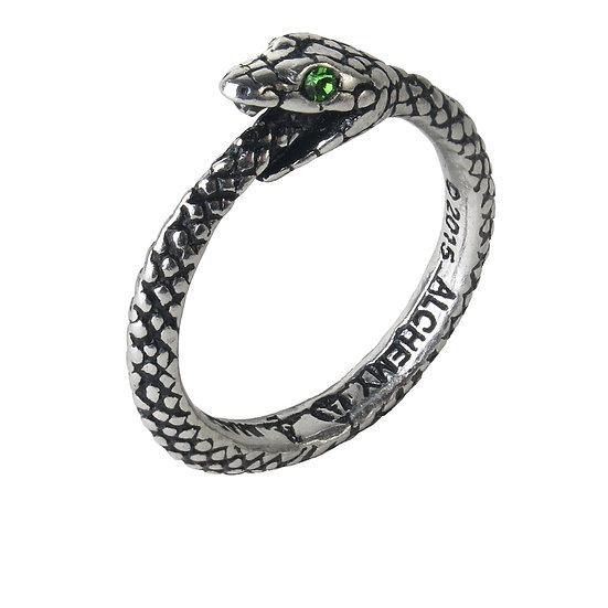 Pewter Ouroboros Serpent Green-Eyed Serpent