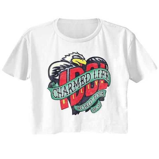 Billy Idol Charmed Life Tour Half Shirt / 80's Rock n Roll Crop Top