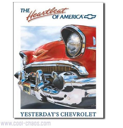The heartbeat of America Chevrolet Sign