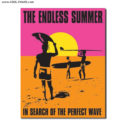 Endless Summer Tin Sign – In search of the perfect wave sign