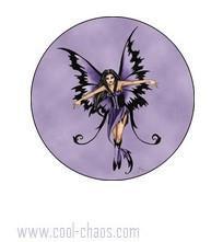 Purple Magic Fairy button